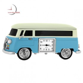 Mini Clock, Collectible Retro Style Vintage VAN