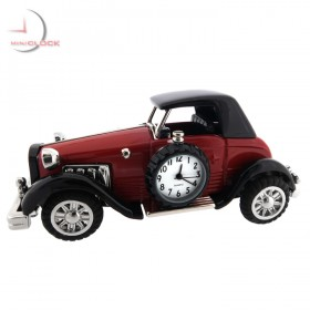 ANTIQUE LUXURY CAR MINIATURE DUSSELDORF COLLECTIBLE MINI CLOCK GIFT