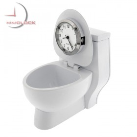 TOILET MINIATURE COLLECTIBLE DESKTOP BATHROOM MINI CLOCK