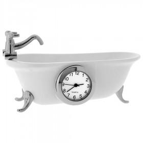 CLAWFOOT BATHTUB VINTAGE STYLE MINIATURE COLLECTIBLE BATHROOM MINI CLOCK