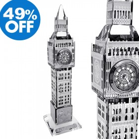 CRYSTAL BIG BEN MINIATURE LONDON UK TOWER BUILDING COLLECTIBLE DESKTOP MINI CLOCK