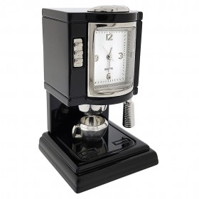 ESPRESSO COFFEE MACHINE MINIATURE KITCHEN COLLECTIBLE MINI CLOCK GIFT