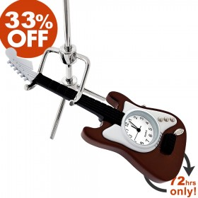 ELECTRIC GUITAR MINIATURE FENDER STYLE MUSIC INSTRUMENT MINI CLOCK