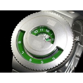 ELEENO JEKYLL & HIDE JAPANESE DESIGNER WATCH BY SEAHOPE RARE & DISCONTINUED WATCHES green