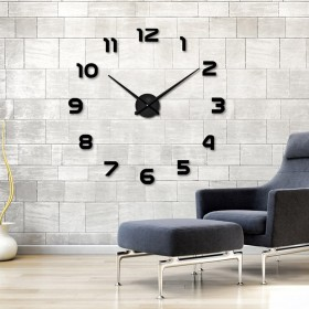 GIANT DIY 3D WALL CLOCK HOME DECOR