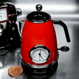 KITCHEN KETTLE MINI CLOCK HOME APPLIANCE MINIATURE COLLECTIBLE GIFT IDEA
