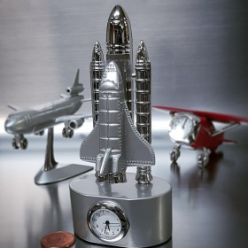 NASA MINI SPACE SHUTTLE & LAUNCH MINIATURE DESKTOP CLOCK
