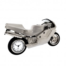 SUPERBIKE MOTORCYCLE MINIATURE STREET BIKE COLLECTIBLE MINI CLOCK GIFT