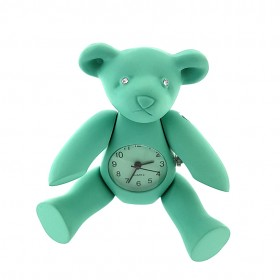TEDDY BEAR MINIATURE ANIMAL POSEABLE LIMB COLLECTIBLE MINI CLOCK