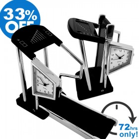 TREADMILL FITNESS DESKTOP COLLECTIBLE MINI CLOCK GIFT