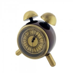 VINTAGE STYLE FAUX TWIN BELL ALARM MINI CLOCK COLLECTIBLE