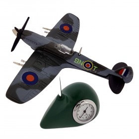 FIGHTER PLANE WW2 MINIATURE COLLECTIBLE AIRPLANE DESK CLOCK
