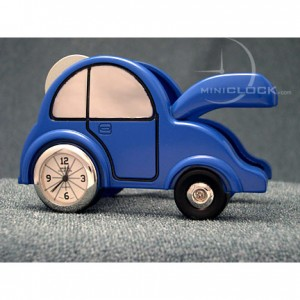 Mini Clocks, Blue Car Tape Dispensor Miniature Clock