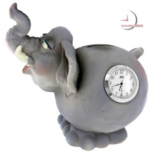 Elephant Animal Coin Bank  Miniature Clocks, Mini Clock