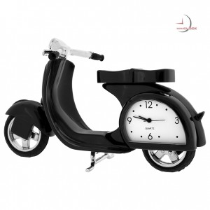 MOPED SCOOTER MINIATURE VESPA COLLECTIBLE MINI CLOCK DESKTOP GIFT