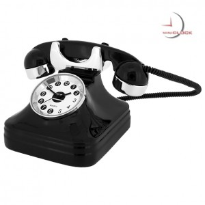 Miniature Vintage TELEPHONE Collectible Desktop Clock