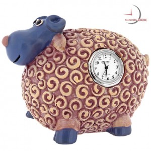 Sheep, Animal  Coin Bank Miniature Clocks, Mini Clock