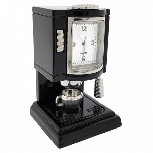 ESPRESSO COFFEE MACHINE MINIATURE COLLECTIBLE MINI CLOCK