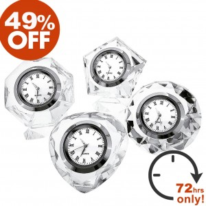 GROUP OF CRYSTAL DESK CLOCKS SALE