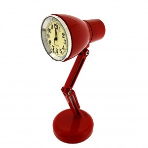 OFFICE MINIATURE DESK LAMP CLOCK RED