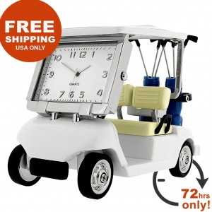 GOLF CART DESK CLOCK SALE