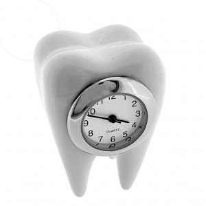 TOOTH MINIATURE MOLAR DENTAL DENTIST ORTHODONTIST COLLECTIBLE MINI CLOCK GIFT