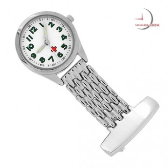 Classic Nurses PIN/PENDANT Watch Fob Upside Down Clock