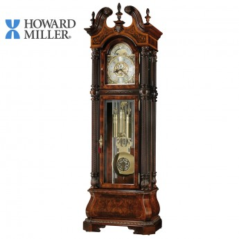 HOWARD MILLER TUBULAR CHIME GRANDFATHER CLOCK: J.H. MILLER II