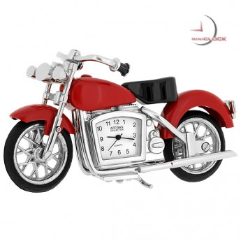 MOTORCYCLE MINIATURE HARLEY STYLE MOTOR BIKE COLLECTIBLE MINI CLOCK