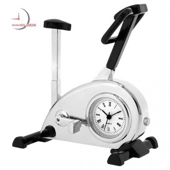 EXERCISE BIKE MINIATURE COLLECTIBLE FITNESS SPINNING MINI CLOCK GIFT IDEA