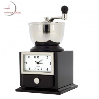 COFFEE GRINDER MINIATURE BEAN HAND MILL COLLECTIBLE MINI CLOCK