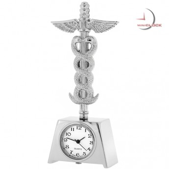 MEDICAL INSIGNIA CADUCEUS DOCTOR NURSE  MINI CLOCK
