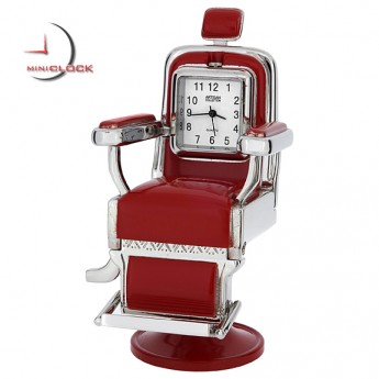 BARBER CHAIR MINIATURE SALON HAIR STYLIST BARBER COLLECTIBLE MINI CLOCK