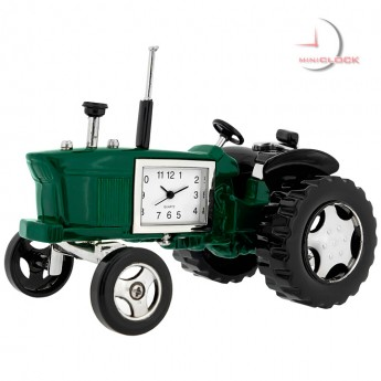 FARM TRACTOR MINIATURE VINTAGE STYLE COLLECTIBLE  AMERICAN MINI CLOCK