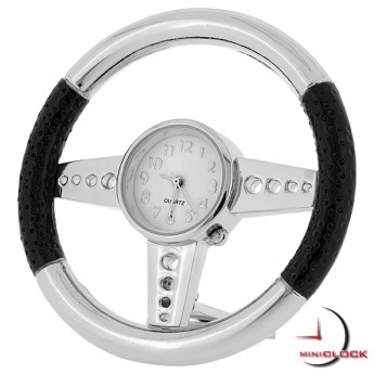 STEERING WHEEL MINIATURE SPORTS CAR COLLECTIBLE MINI CLOCK