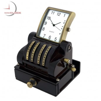 CASH REGISTER VINTAGE STYLE MINIATURE POS COLLECTIBLE DESKTOP MINI CLOCK GIFT