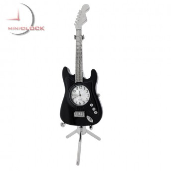 ELECTRIC GUITAR MINIATURE STRATO STYLE MUSIC COLLECTIBLE DESKTOP MINI CLOCK GIFT