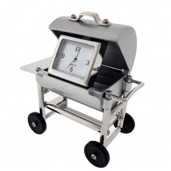 BARBECUE MINIATURE GRILL COOKING COLLECTIBLE BBQ MINI CLOCK