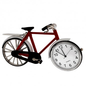 VINTAGE BICYCLE MINIATURE BIKE COLLECTIBLE MINI CLOCK
