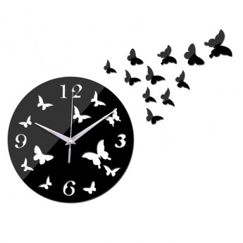 ARTISTIC BUTTERFLY  WALL CLOCK HOME DECOR DESIGN GIFT IDEA