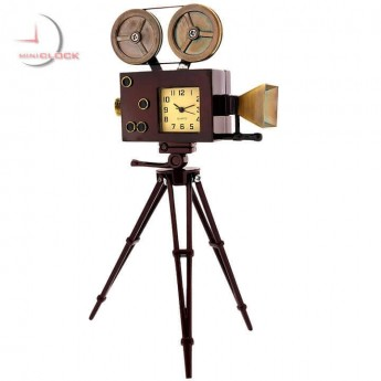MOVIE CAMERA MINIATURE HOLLYWOOD FILM COLLECTIBLE MINI CLOCK