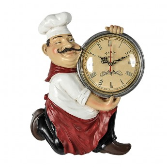 VINTAGE CHEF WALL CLOCK KITCHEN or RESTAURANT HOME DECOR IDEA