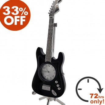 ELECTRIC GUITAR MINIATURE FENDER STRATOCASTER STYLE MUSIC COLLECTIBLE DESKTOP MINI CLOCK GIFT