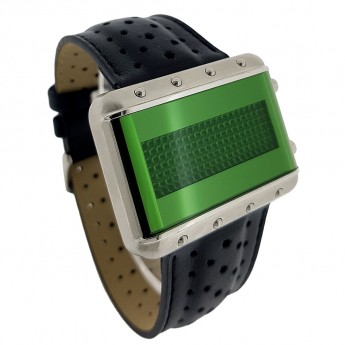 GALAXY - VERY RARE VINTAGE SCROLLING LED WATCH w/ GREEN DISPLAY by CW