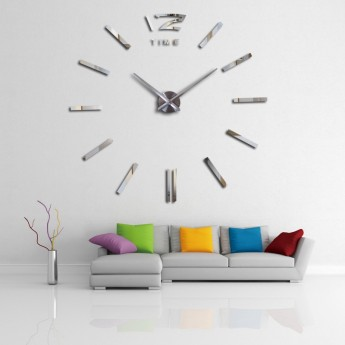 GIANT DIY 3D WALL CLOCK: NUMBER 12 & EURO STYLE MARKERS