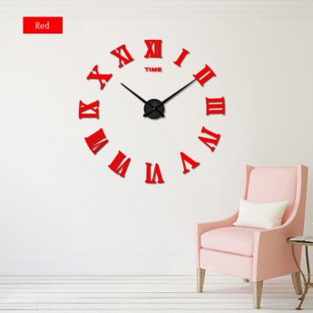 GIANT DIY 3D WALL CLOCK W/ ROMAN NUMERALS HOME DECOR