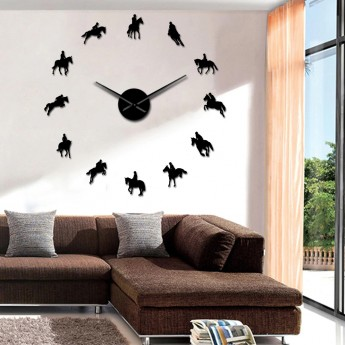GIANT DIY 3D  HORSE WALL CLOCK EQUESTRIAN HOME DECOR