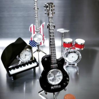 ELECTRIC GUITAR MINIATURE LP HOLLOW BODY  MUSIC COLLECTIBLE MINI CLOCK