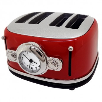 RETRO KITCHEN TOASTER  MINI COLLECTIBLE DESK CLOCK
