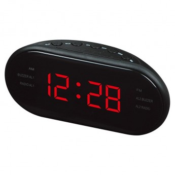 CLASSIC LED ALARM CLOCK RADIO: LARGE DISPLAY, SNOOZE  & AM/FM